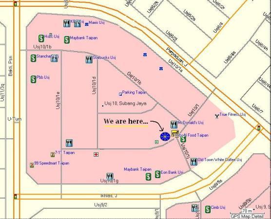 Location map of AstaraPoint Taipan Subang Jaya